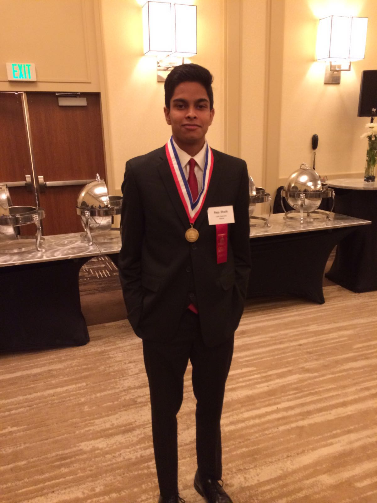 Ismail looking dapper at the post-final round banquet.