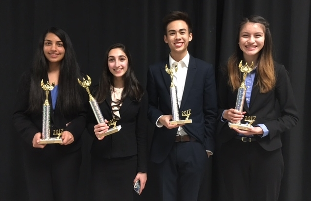 Congratulations to sophomores Roshni Varma, Darya Kaviani;junior Jolie Leung;and senior Koji Flynn-Do for qualifying to State in Public Forum Debate.