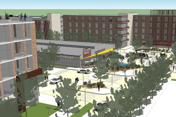 The proposed St. Elmo's Market and Lofts would transform an industrial site in South Austin into a chic destination.