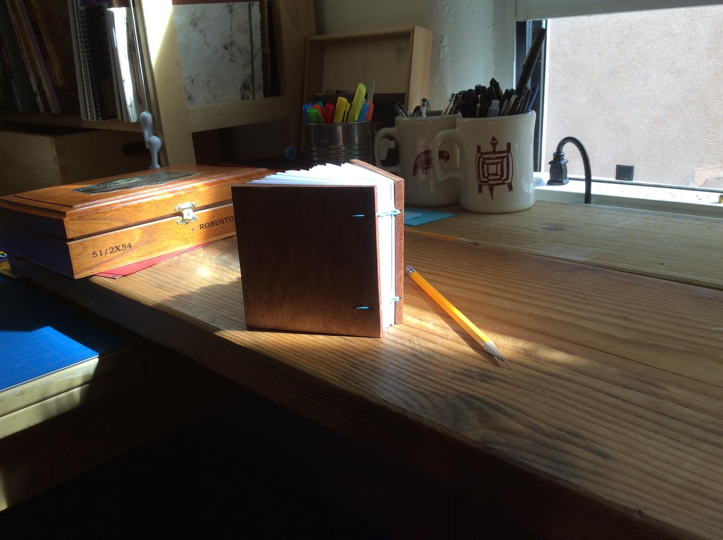 wooden cover journal, ethiopian binding