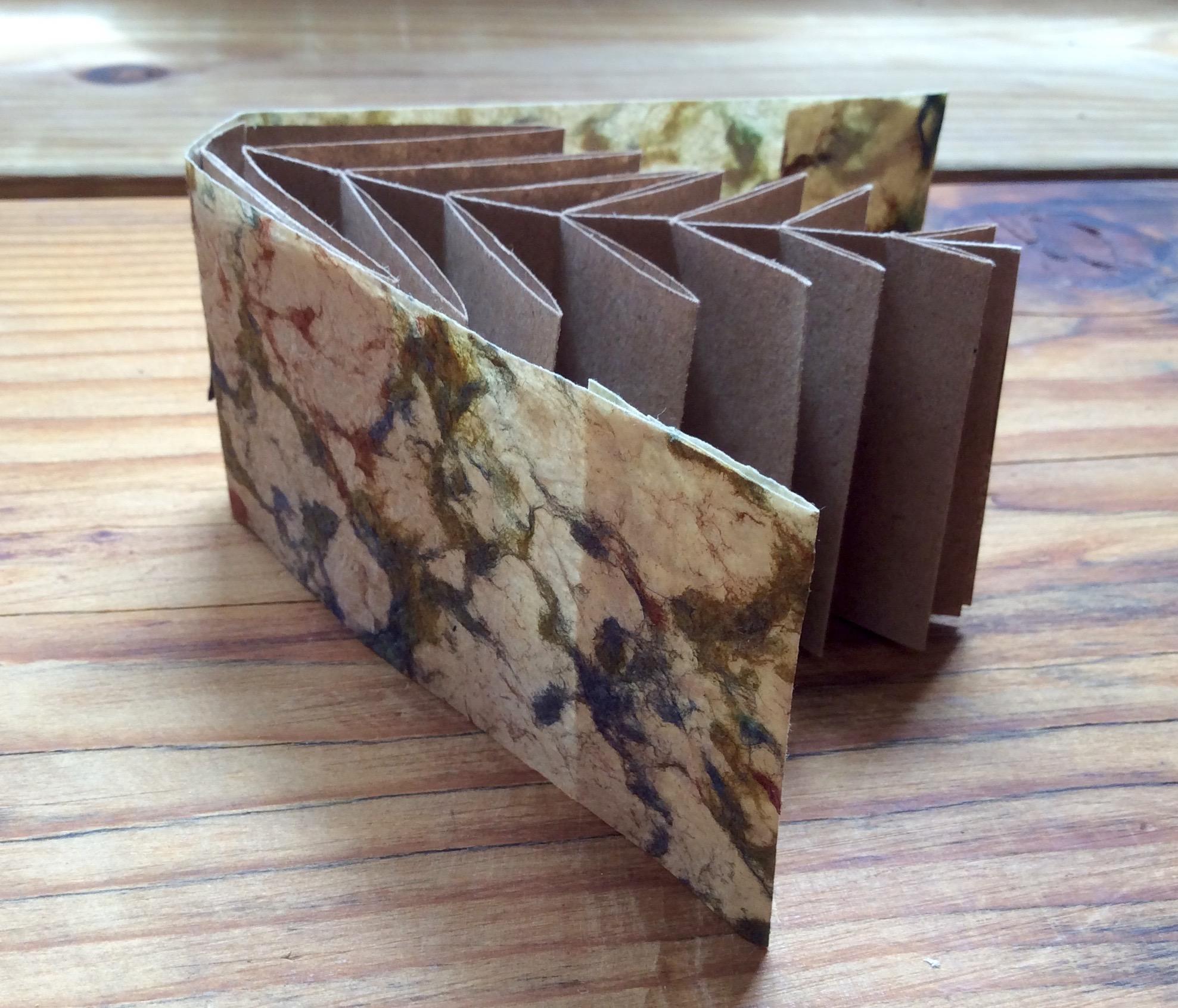 artist book fishbone fold