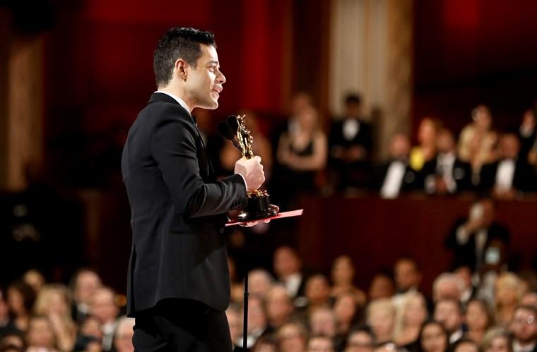 Rami Malek wins Best Actor for his performance in Bohemian Rhapsody  (20th Century Fox, 2018).