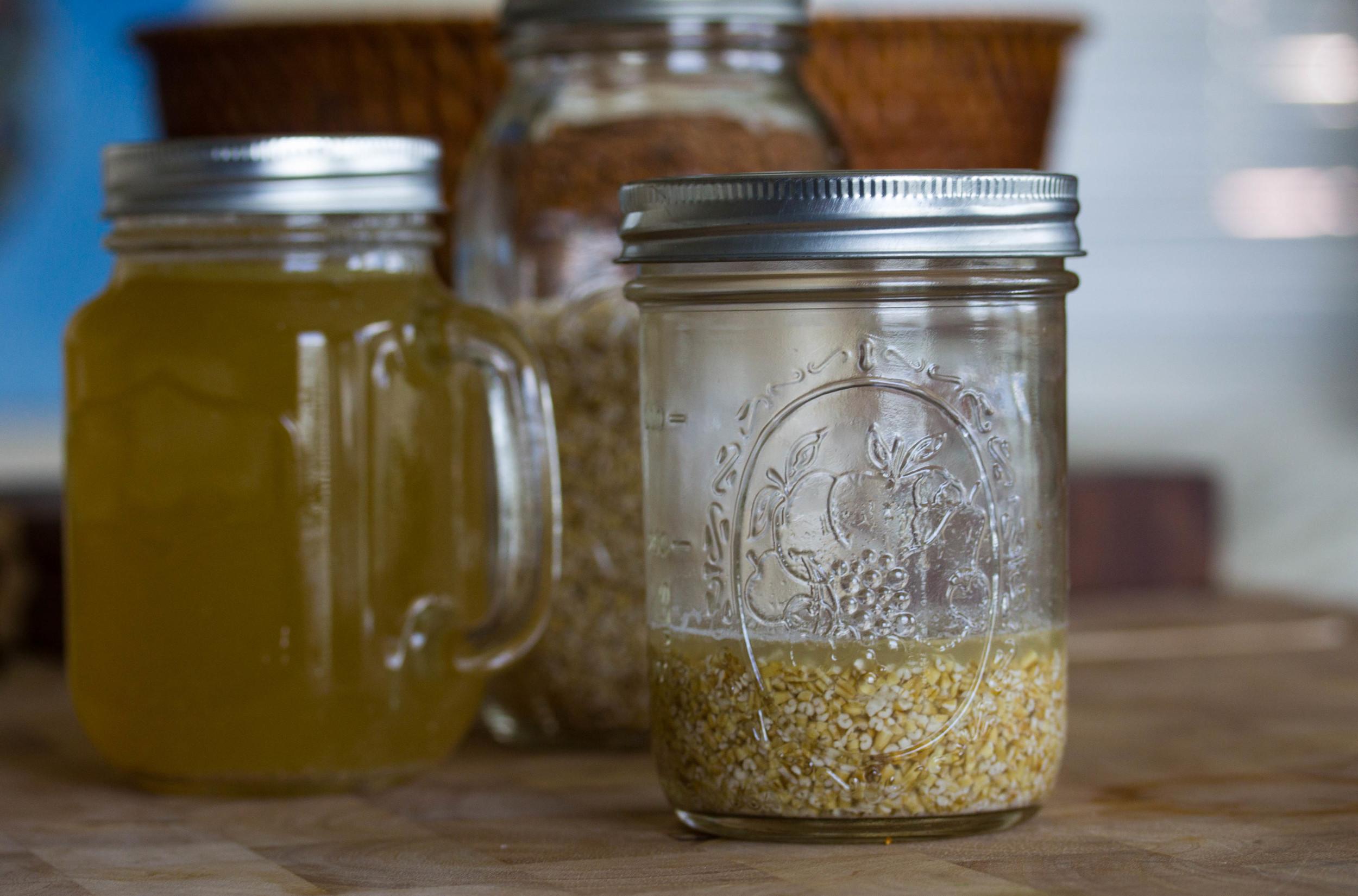 Refrigerate oats overnight
