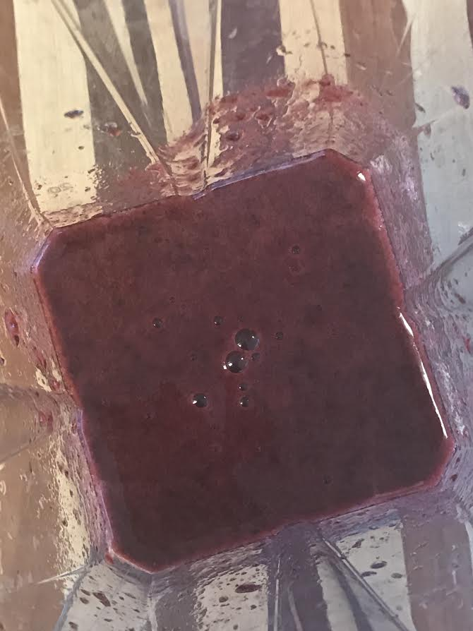 Blend juice and fruit