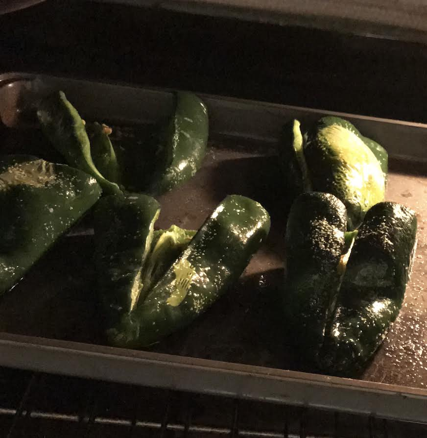 Coat peppers with oil and sea salt