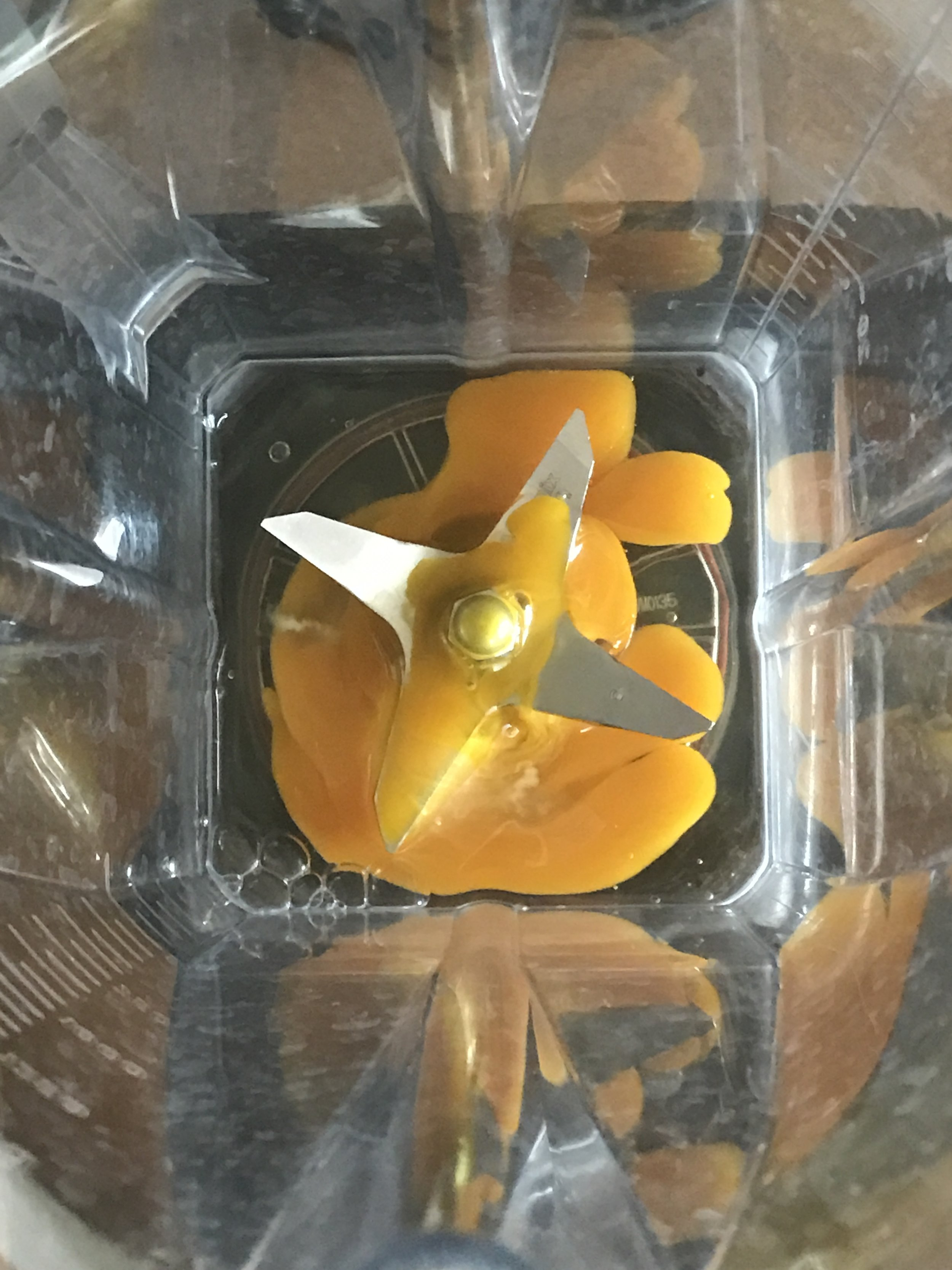 Place egg in blender