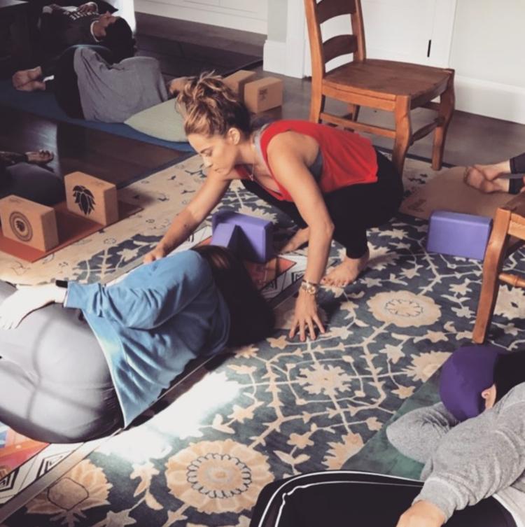 Aromatherapy Yin Yoga at Wellness Retreat in York, Maine.