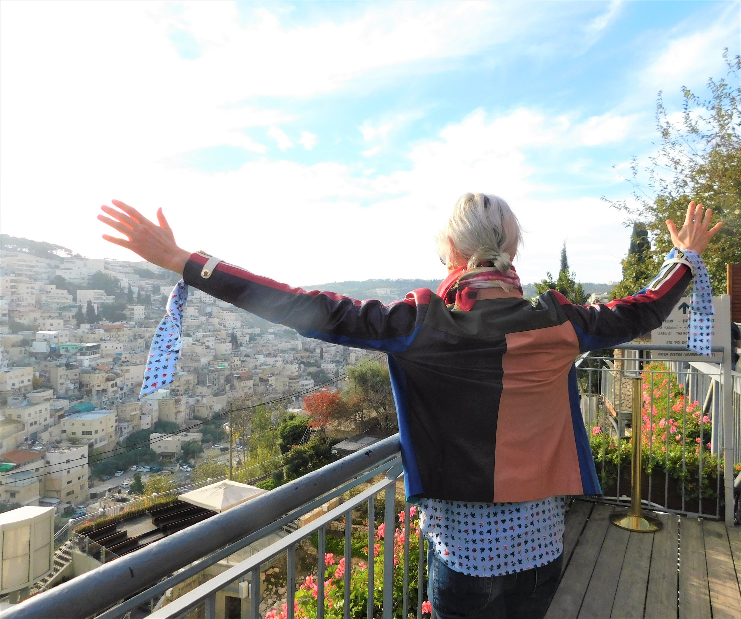 "City of David, Jerusalem Dec 2018 "" 12 Tribes Lambs leather jacket"""