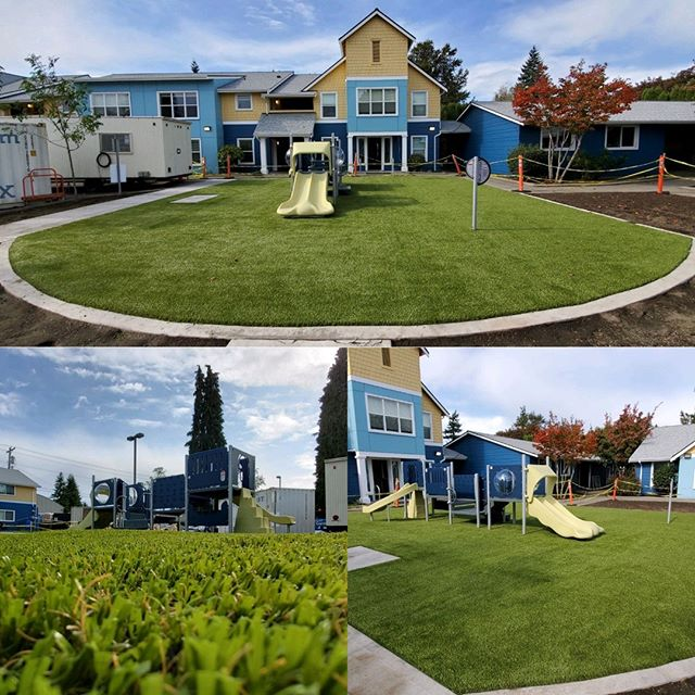 A beautiful Playground Grass Playground that can be used safely year round regardless of the weather! Kids will stay clean and have an incredible place to play for years to come!