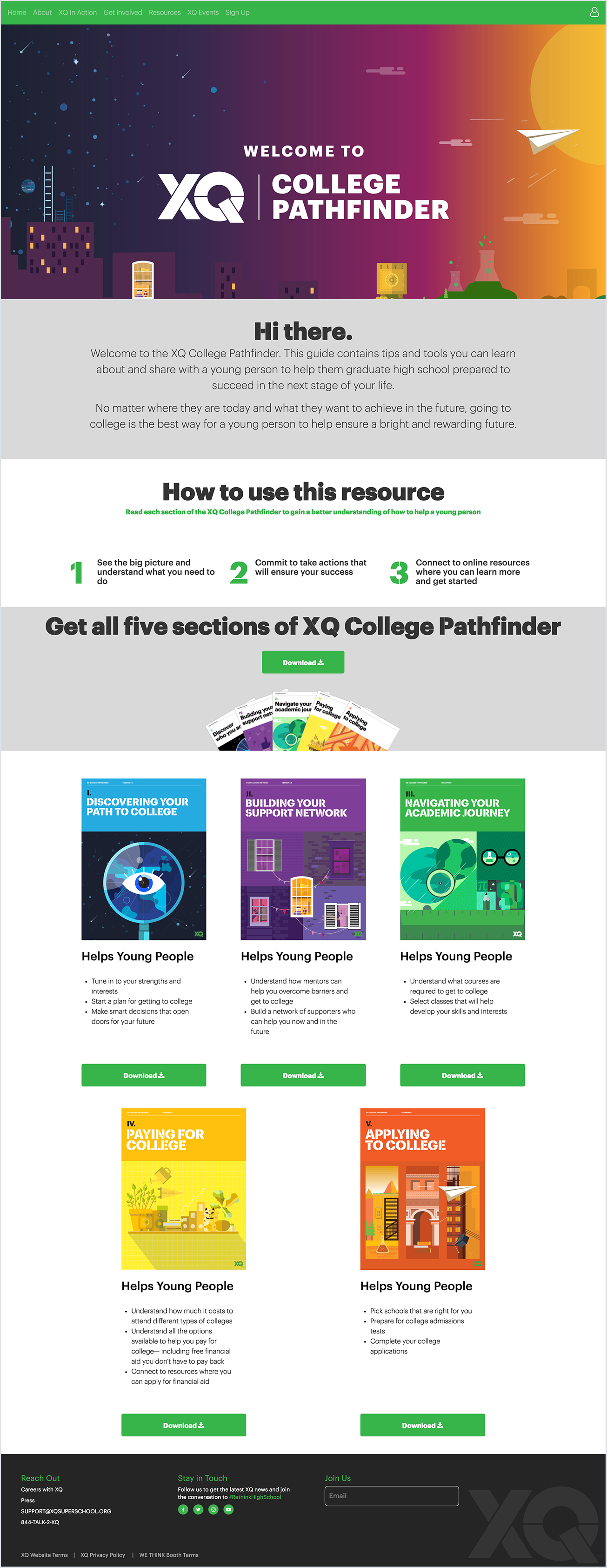 Final Passport to College (re-named College Pathfinder) launched in conjunction with the movement kick-off