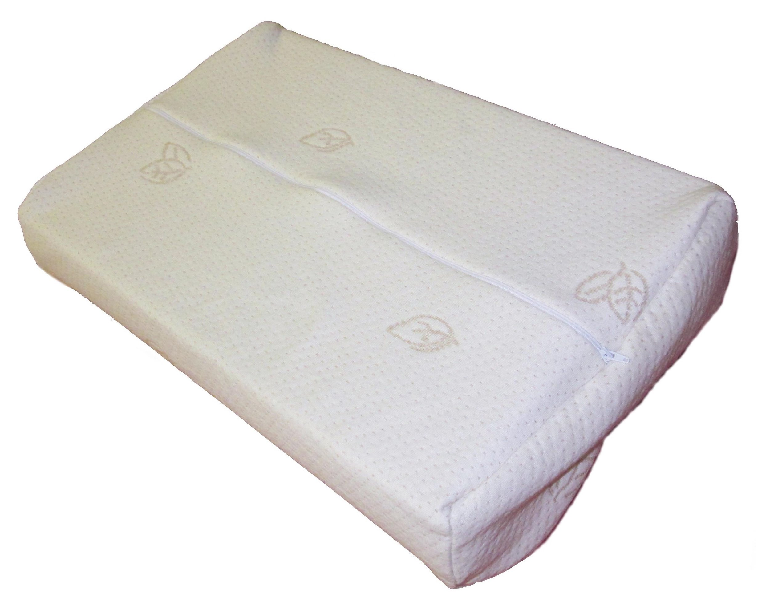 contour pillow with zippered organic cotton cover