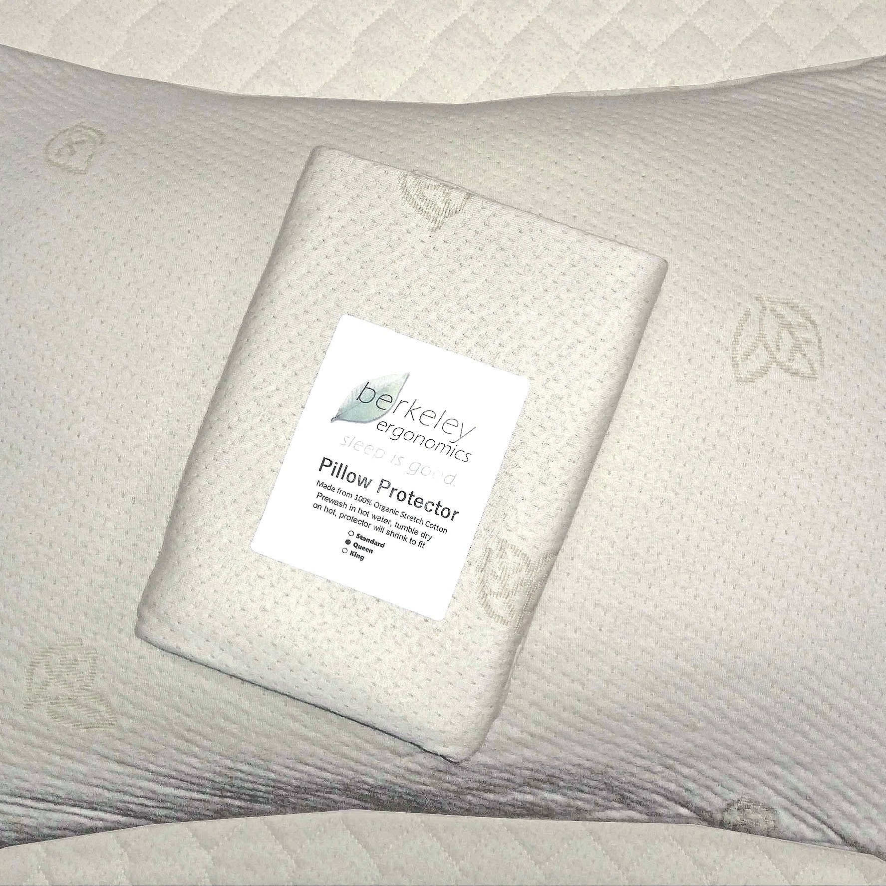 Berkeley Ergonomic pillow protector made from organic cotton -