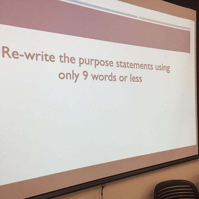 """How do you communicate the """"why?"""" Of your initiatives and projects? Can you say it in 9 words or less? Concise, powerful purpose statements are memorable and attract participation."""