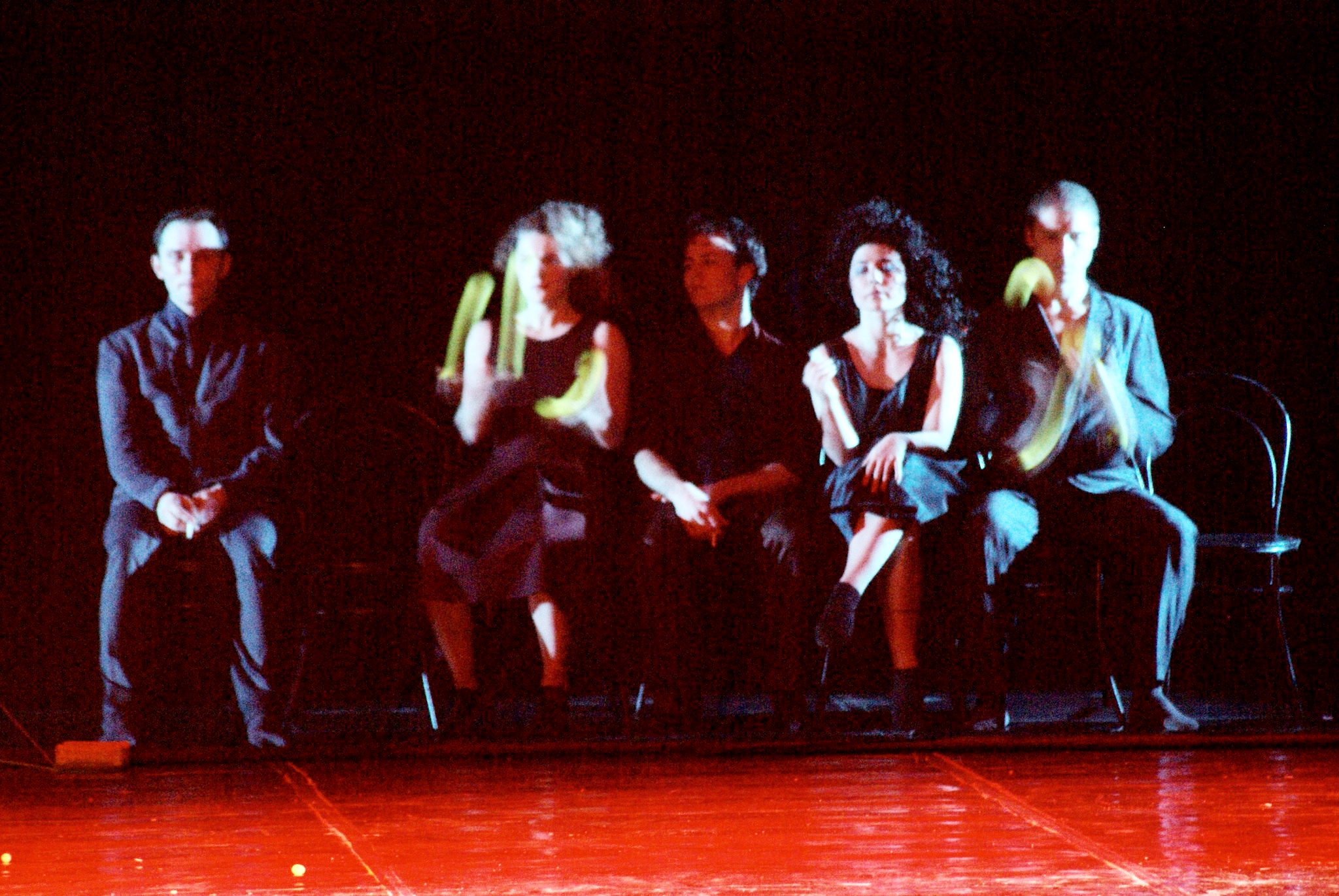 Slender-White (center) with Provincial Dances Theatre in  Wings at Tea . 2006.