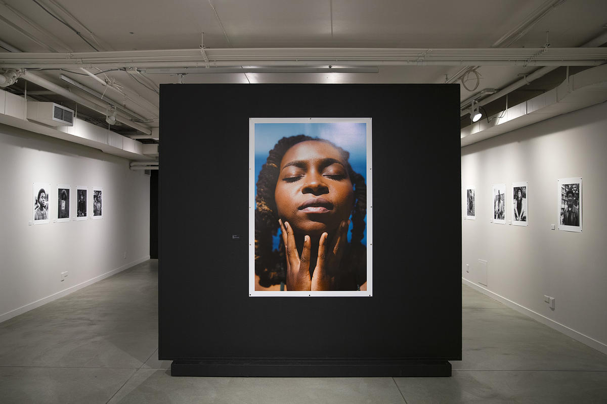 Everyday Black, an exhibit of portraits by photographers Jessica Rycheal and Zorn B. Taylor is on display on Monday, Feb. 12, 2018, at the Northwest African American Museum in Seattle.  CREDIT KUOW PHOTO/MEGAN FARMER
