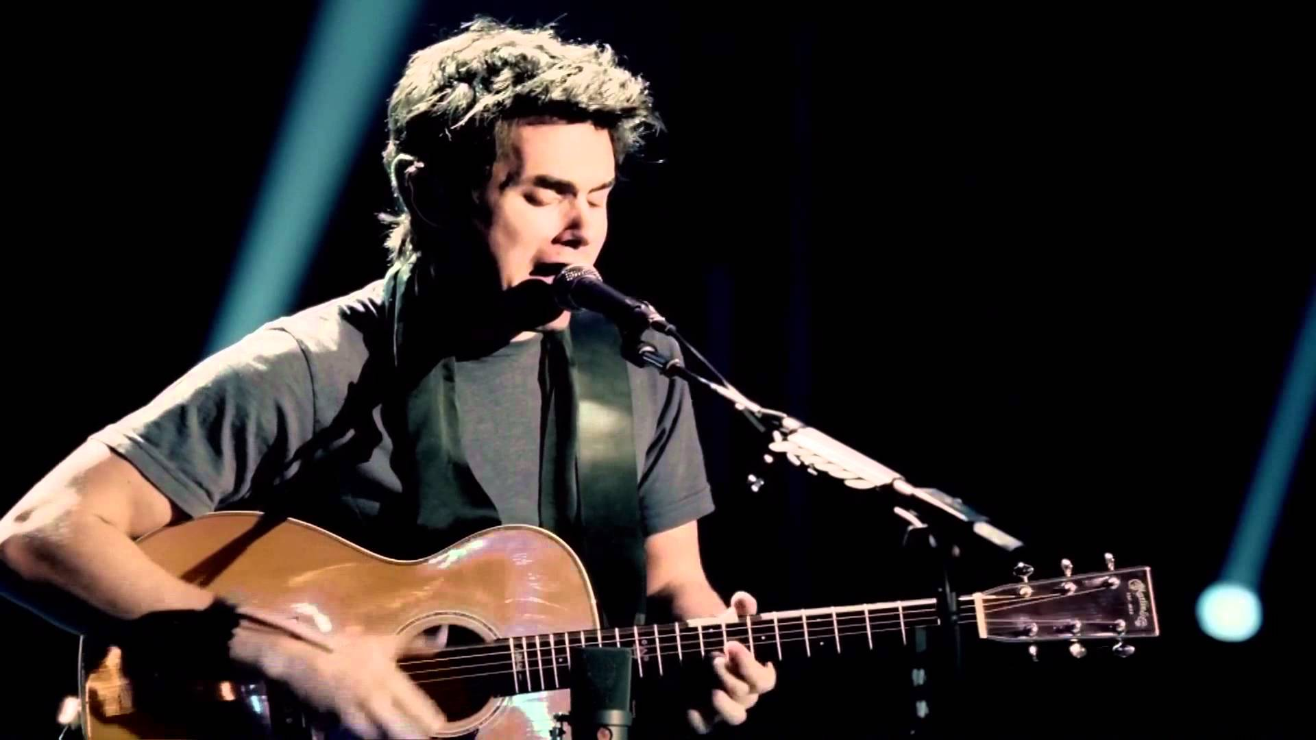 Musician and guitarist John Mayer playing Free Fallin' in Los Angeles.