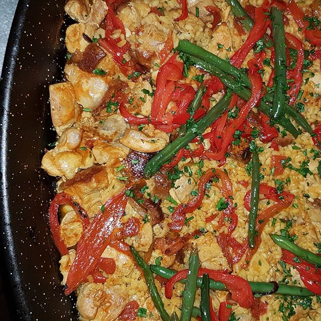 The crispy pork belly in this paella was 👌👌👌😋😋😋