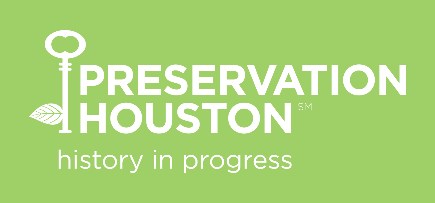 Preservation Houston's new name, logo and tagline,  History in Progress , were introduced in 2012.