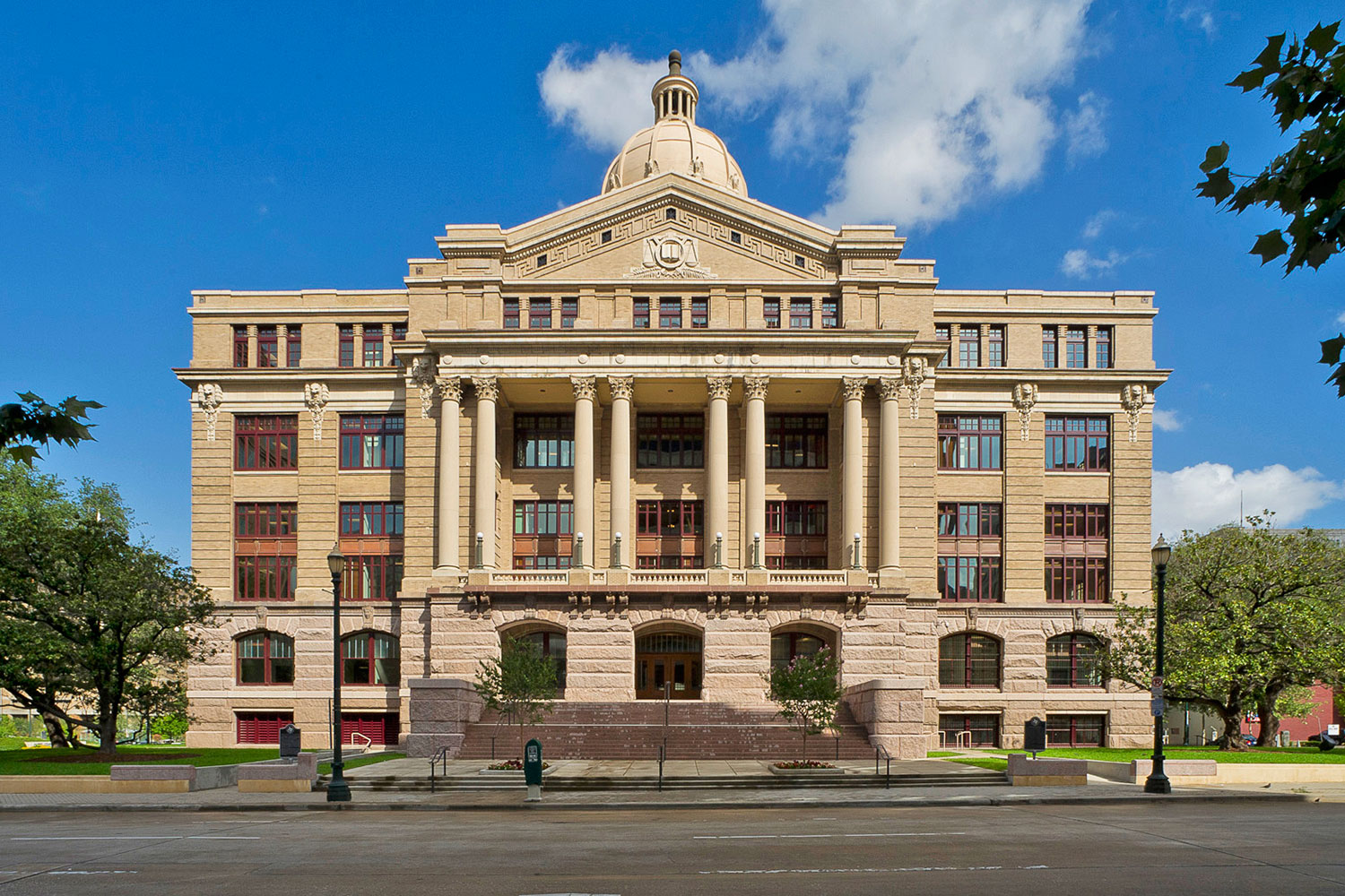 The 1910 Harris County Courthouse anchors the Courthouse District, one of the city's oldest neighborhoods. /  photo courtesy of Nash Baker