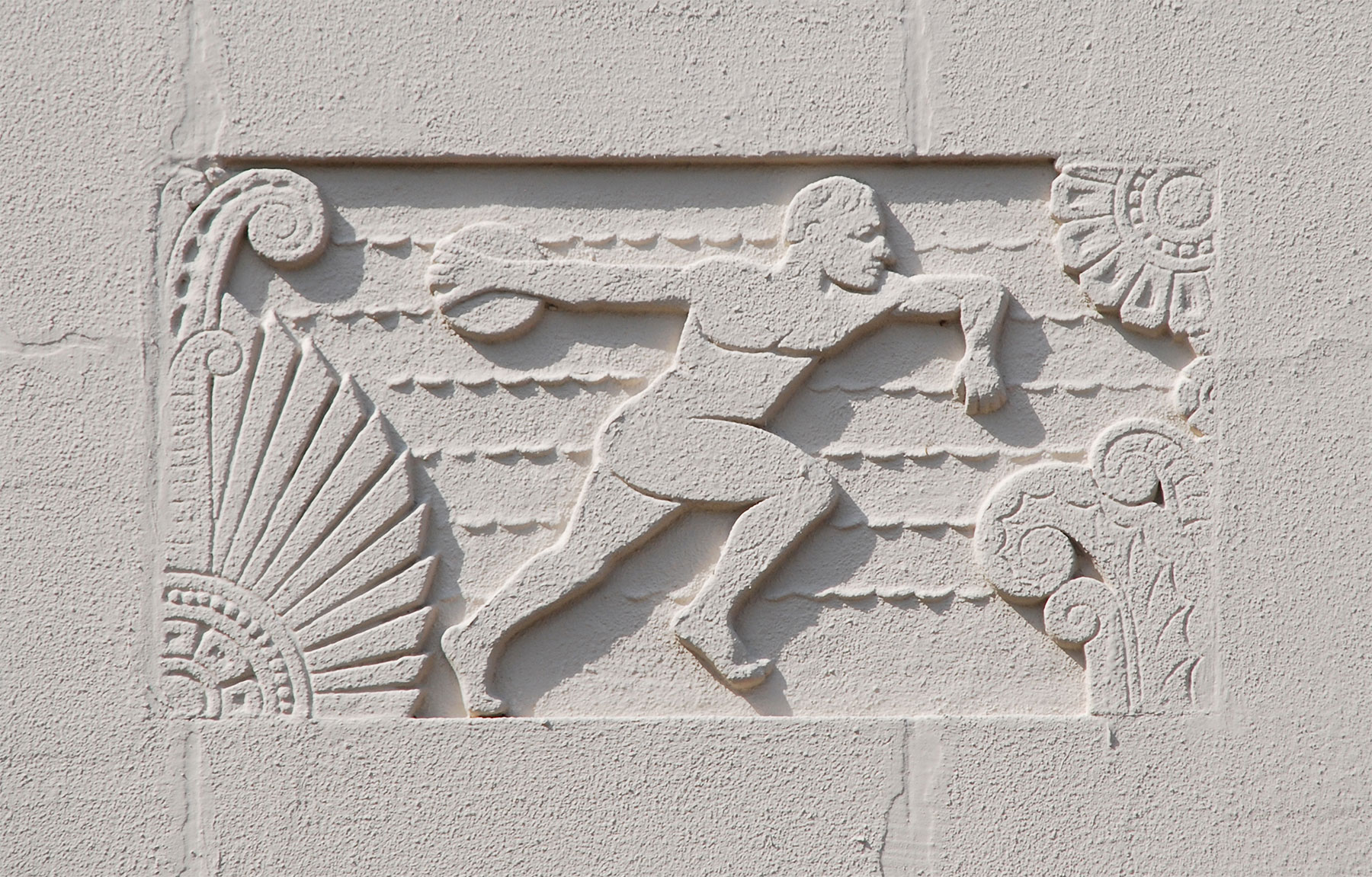 Relief plaques, Webster High School /  photos by David Bush