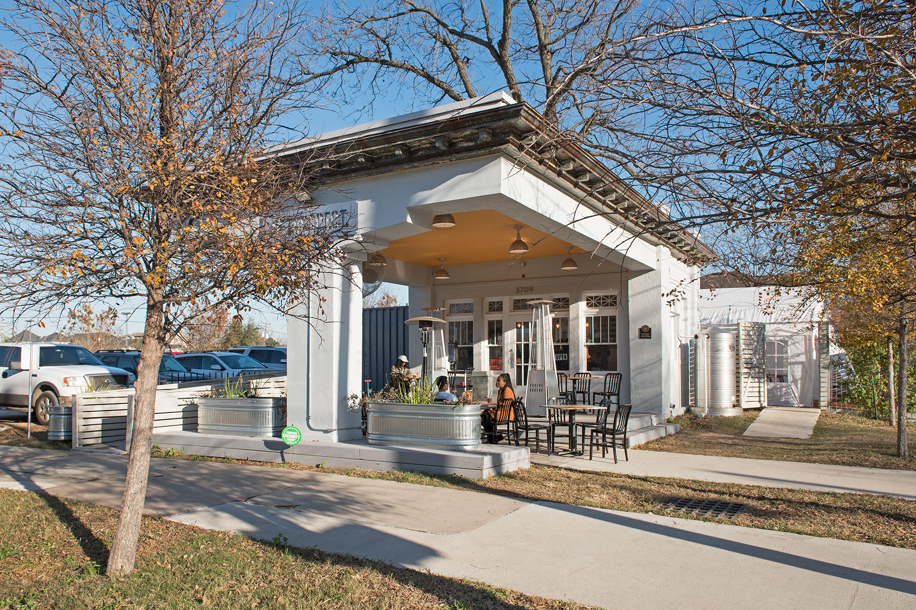 Chas Haynes for repurposing one of Houston's first Gulf service stations (1921) in Midtown /  photo by Jim Parsons