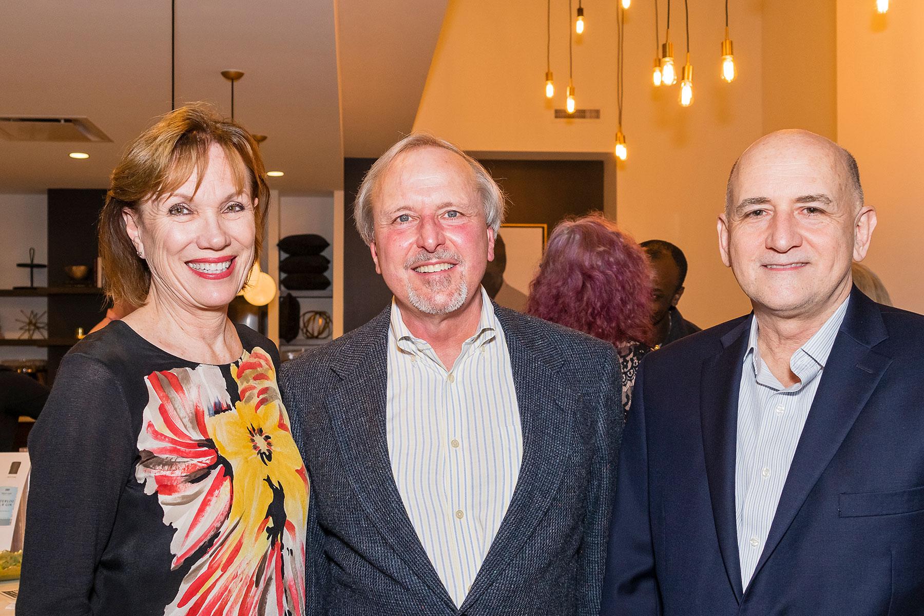 PH President Deborah Keyser, Jim McCallum, PH Executive Director David Bush