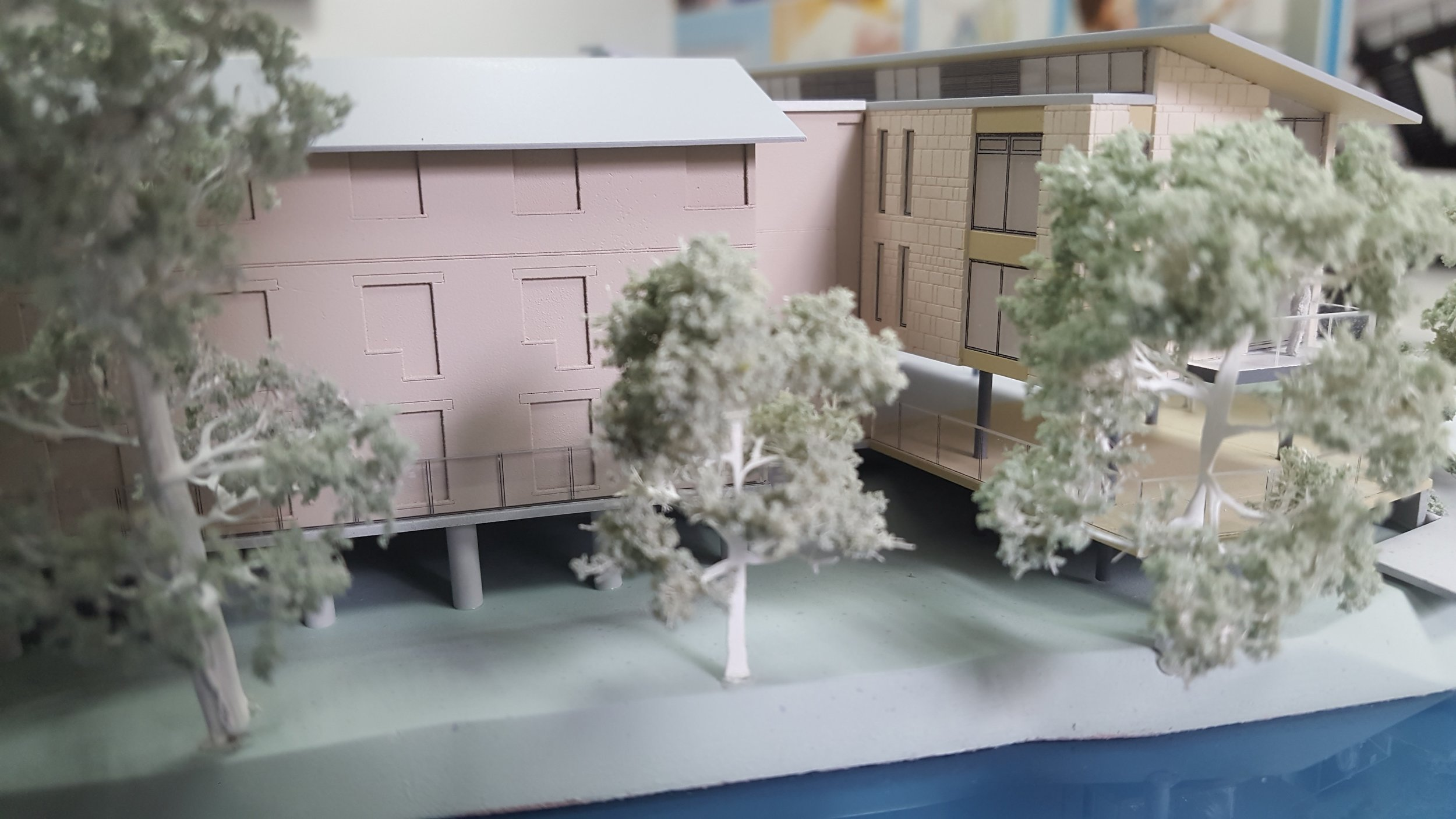 We created a model of the proposed plan for bridgemead.