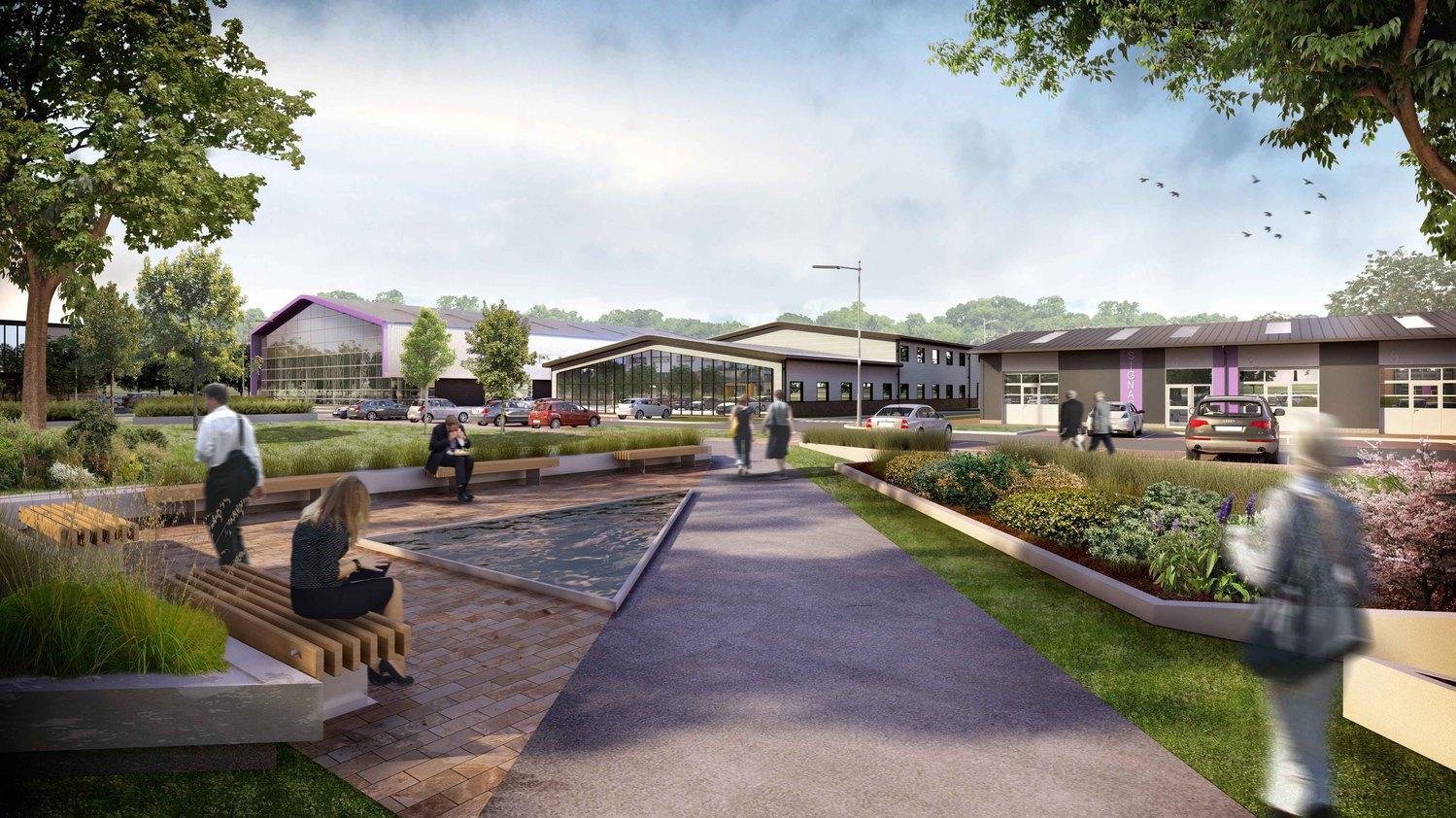 Grove Business Park Masterplan - 3243