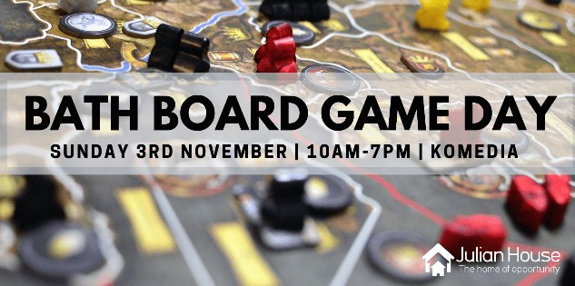 Join us for Bath's biggest board game day. - Just grab a game and invite fellow like minded attendees to your table.