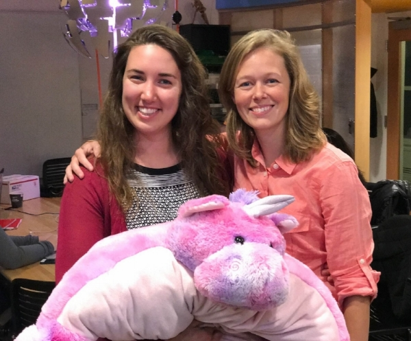 Erica and Kate befriend the Lab's unicorn