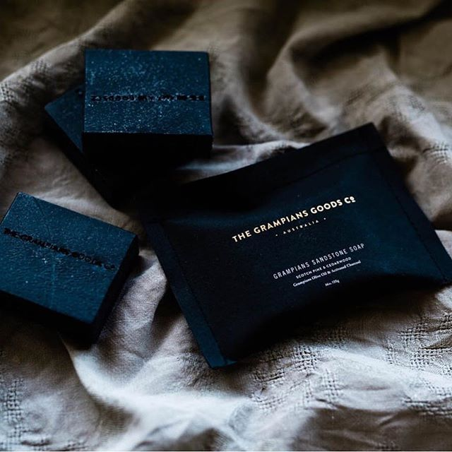 Obsessed with these soaps by @grampians_goods_co 🖤 Branding & packaging by us.