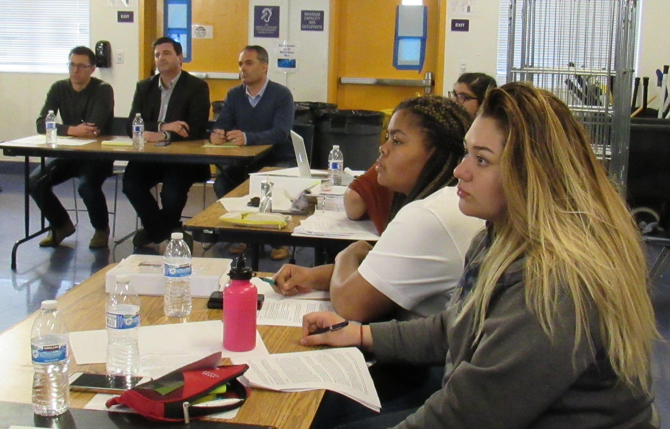 Students practiced for their Moot Court Presentation coming up later this month