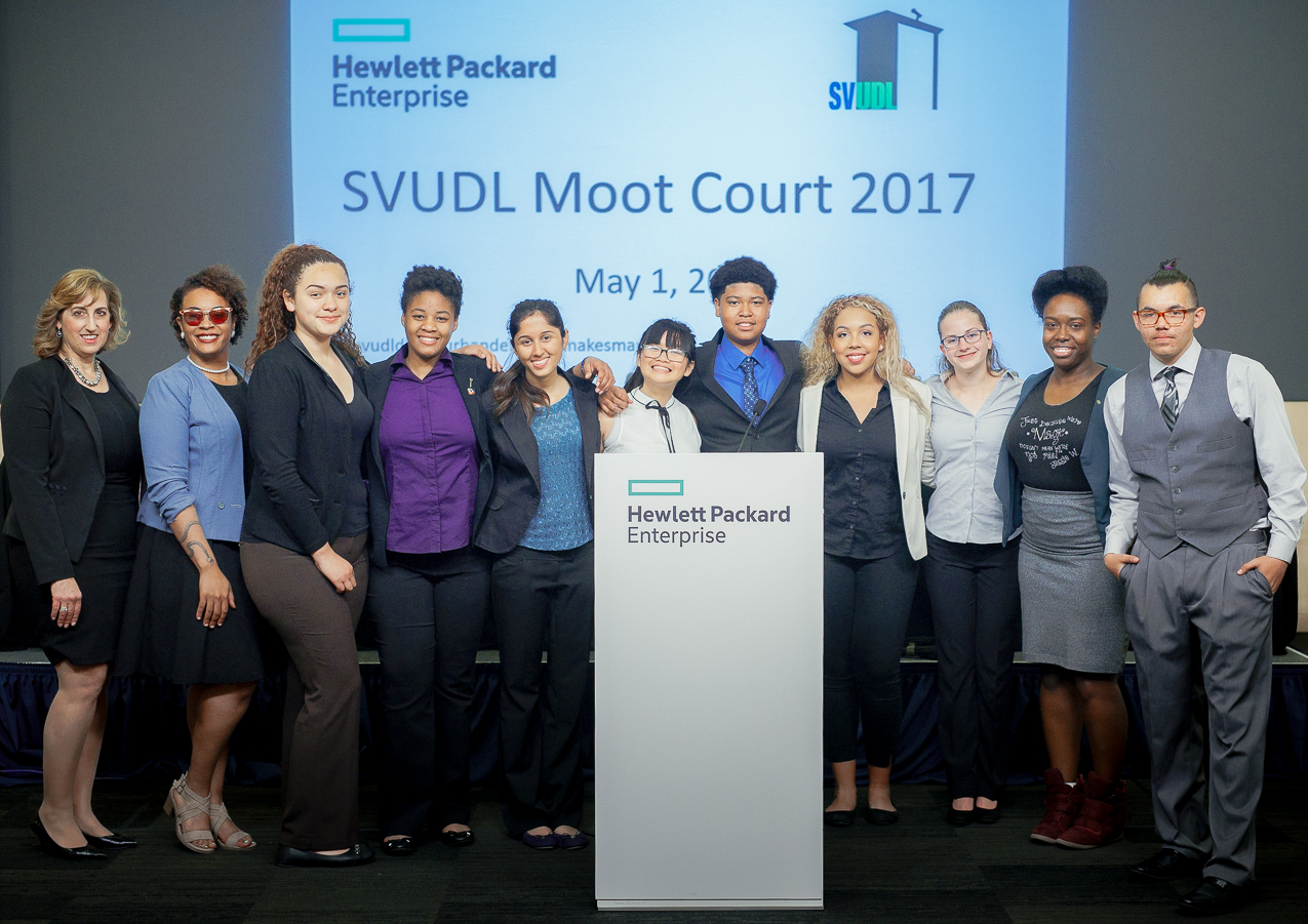 The SVUDL Team and Moot Court Debaters, Volunteers, and Clerk