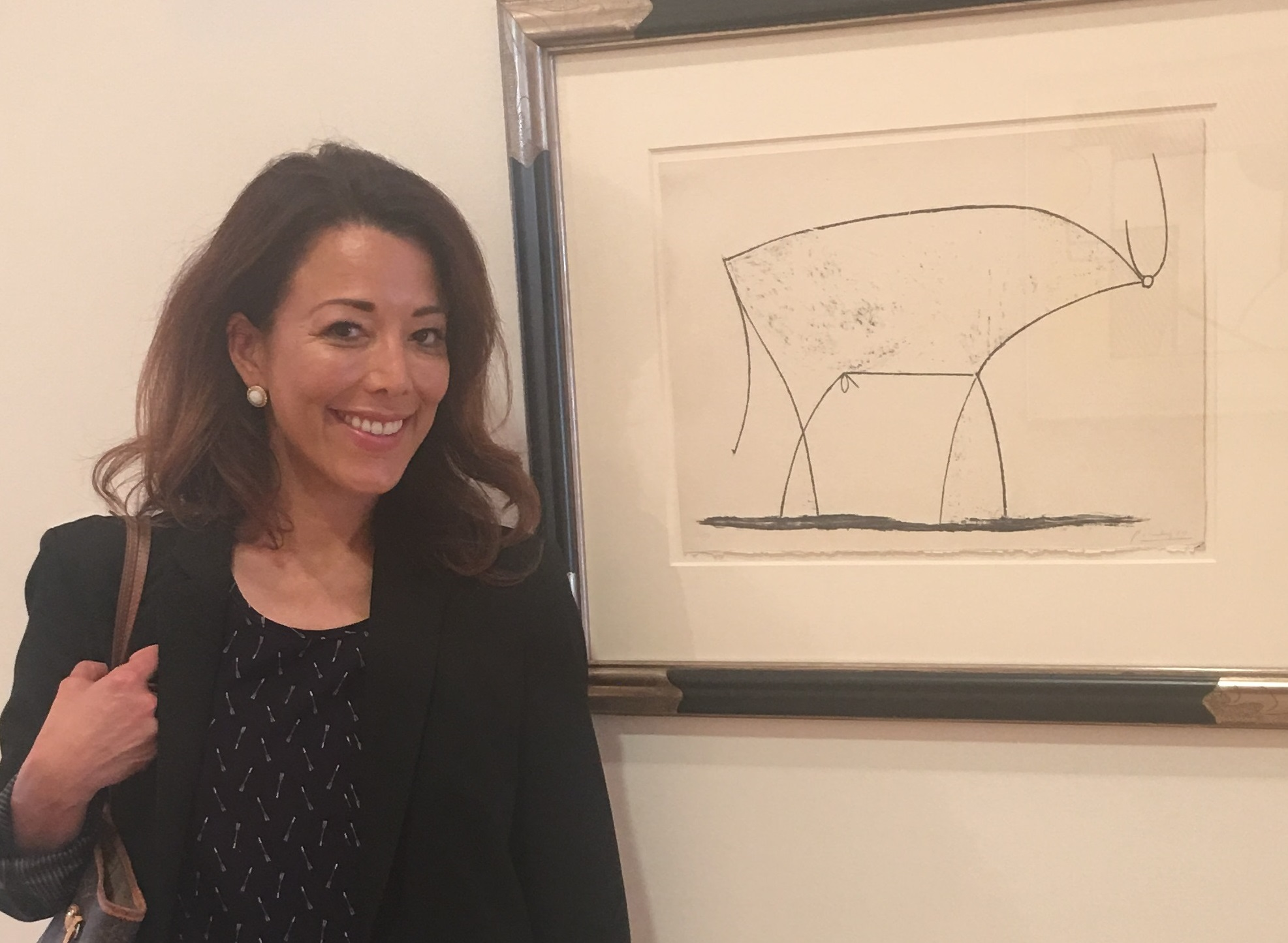Yvette Castro Farias, SVUDL's Development & Community Relations Manager, with a Picasso!