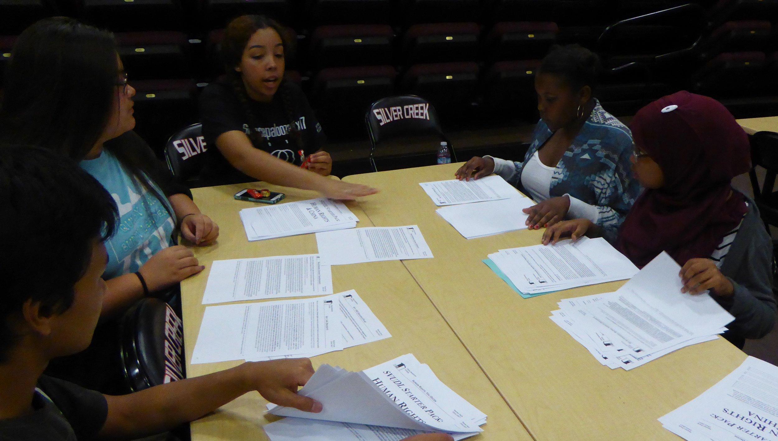 SVUDL students preparing for debate tournament season