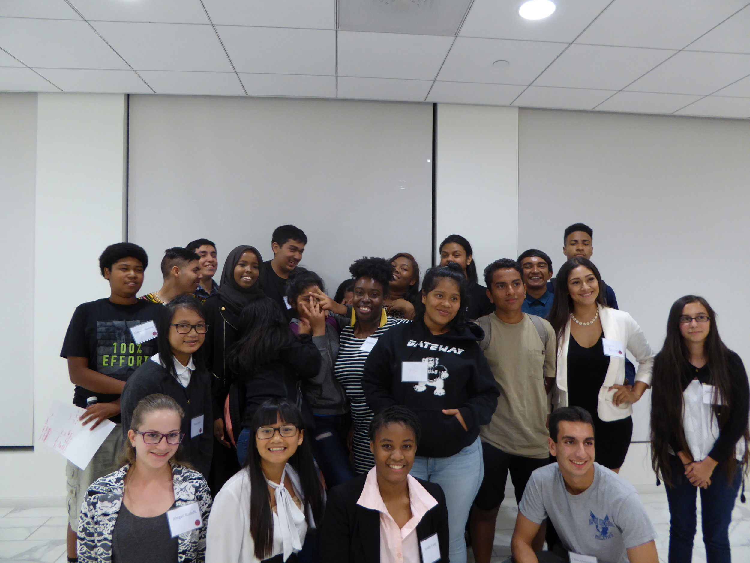 SVUDL students attending a Law Firm Career Day event