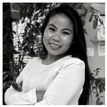 Sina Vann  was born in Vietnam and abducted from school and trafficked to Cambodia where she was sold to a brothel and forced to service up to 20-30 clients a day. If she refused, she would be tortured with chilli and locked in a dark, underground room without food.  She spoke no english or khmer when she was finally rescued and unable to return to her family due to the perceived shame of her situation. Referred to AFESIP, trust was slow to build, but over time it was clear that Sina had a gift for supporting other girls to overcome their grief and pain through their shared, lived experience.  Sina now leads the social outreach program at AFESIP, supporting women and children in some of the most impoverished areas of the community by raising awareness of the service, promoting access to primary healthcare and safe sex practices.