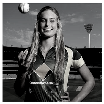 Holly Ferling  is a star fast bowler for the Queensland Fire, Brisbane Heat and Southern Stars.  Originally from Kingaroy where she shot to prominence by taking a hat-trick in men's A grade cricket while still at school, the right-arm pace bowler took the women's cricket world by storm in in her debut season of 2012-13. That season she earned a place in the WNCL (one-day) Team of the Year, and was named the 12th player in the World Cup Team of the Tournament in India in February 2013. She made her Test debut in 2013-14 against England and went to the World T20 Championships in Bangladesh where the Southern Stars brought home the cup.  Holly was a Konica Minolta Queensland's Fire rookie player from the age of 14, and made history by becoming the first female to win the Ken Mackay Trophy for the Queensland Junior Cricketer of the Year.