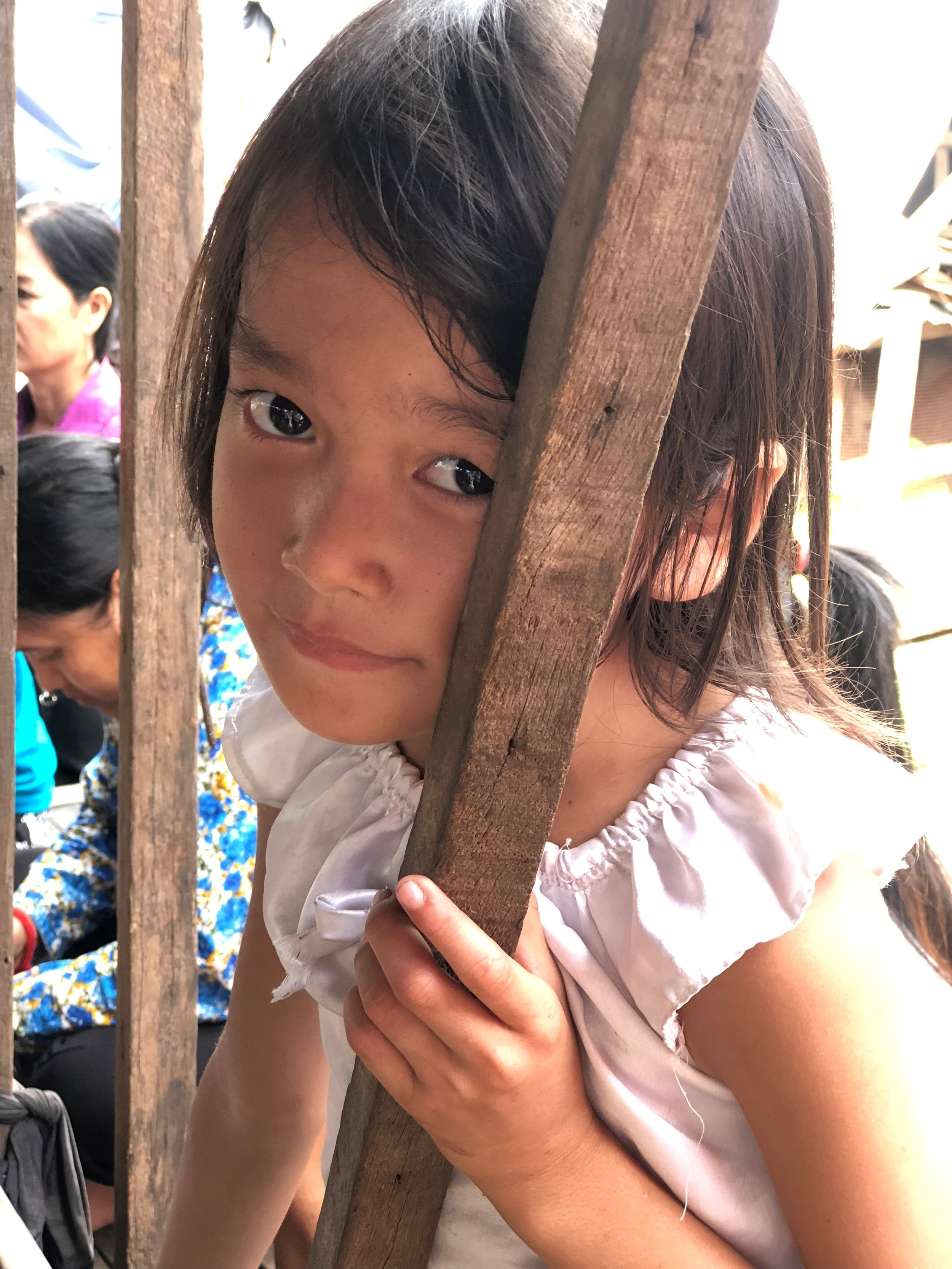 This little girl was born in the brothel. She does not know her father, a client, and will likely live the same fate as her mother. One day soon, sold for her virginity and trafficked.