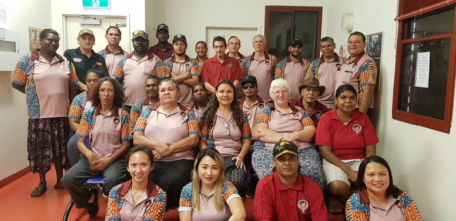 Yura Yungi Staff at Otoscopy workshop on 30 April in Halls Creek