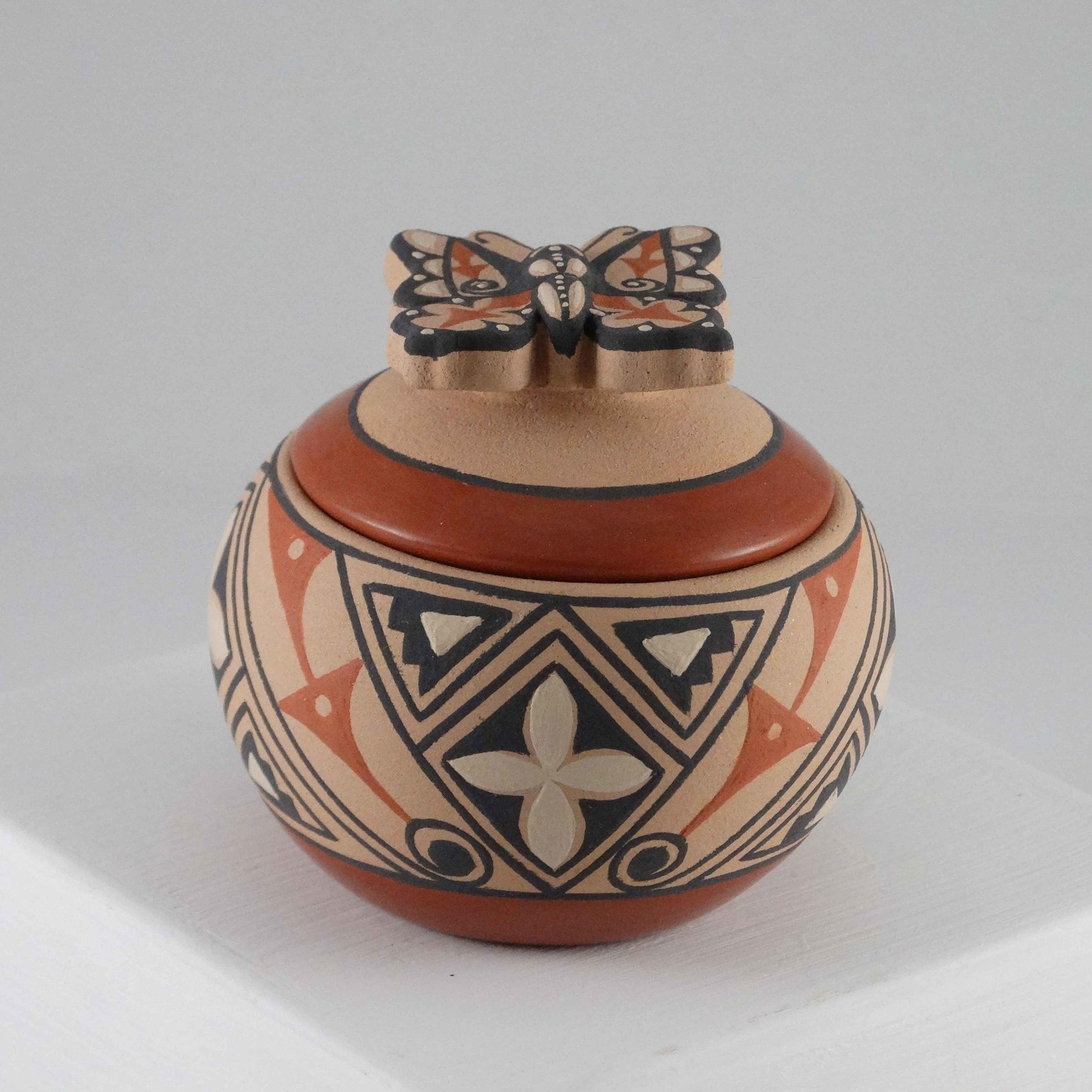 Polychrome Jar by Mary Louise Eteeyan (click to enlarge)