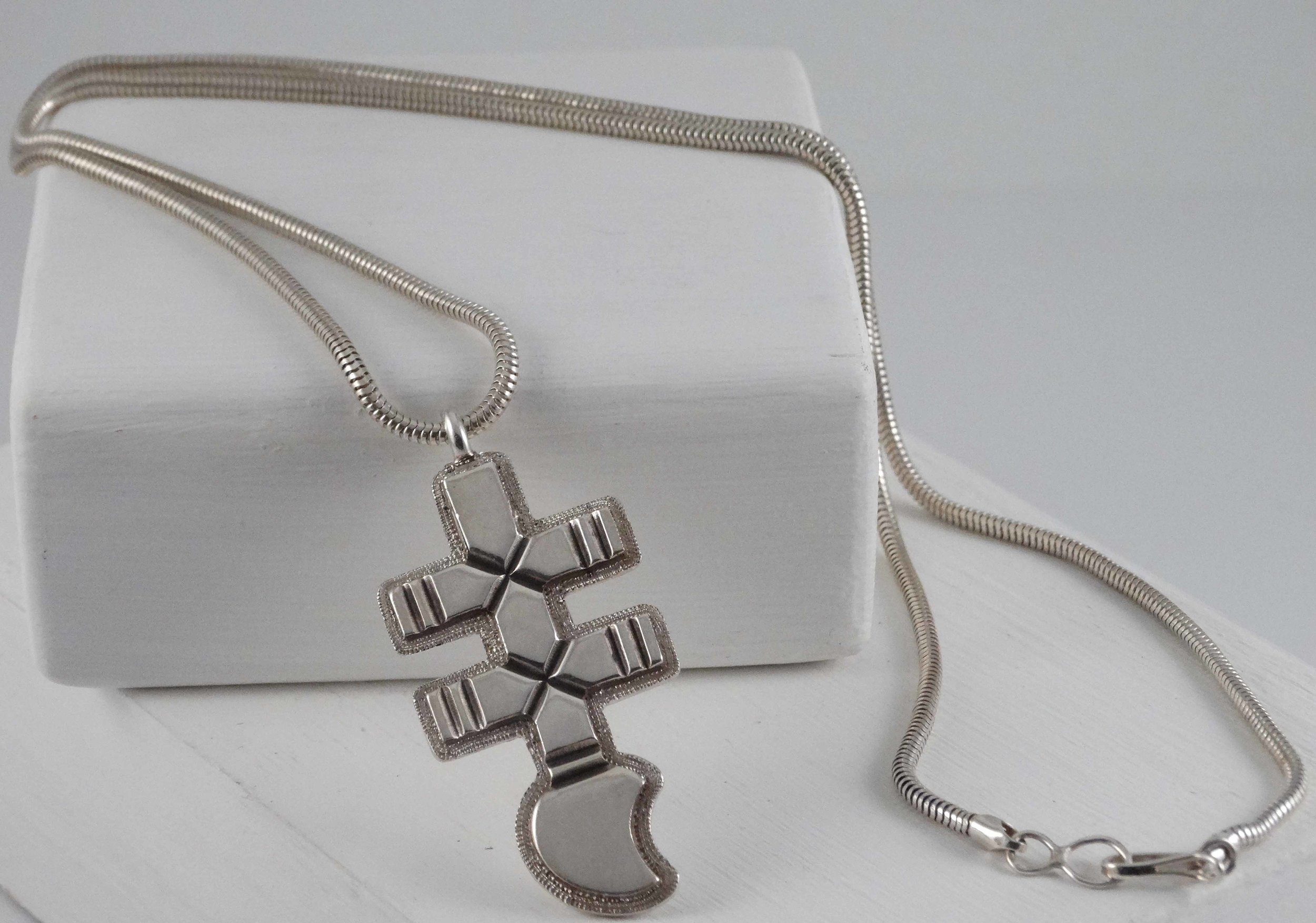Silver Cross Pendant by Thomas Jim (click to enlarge)