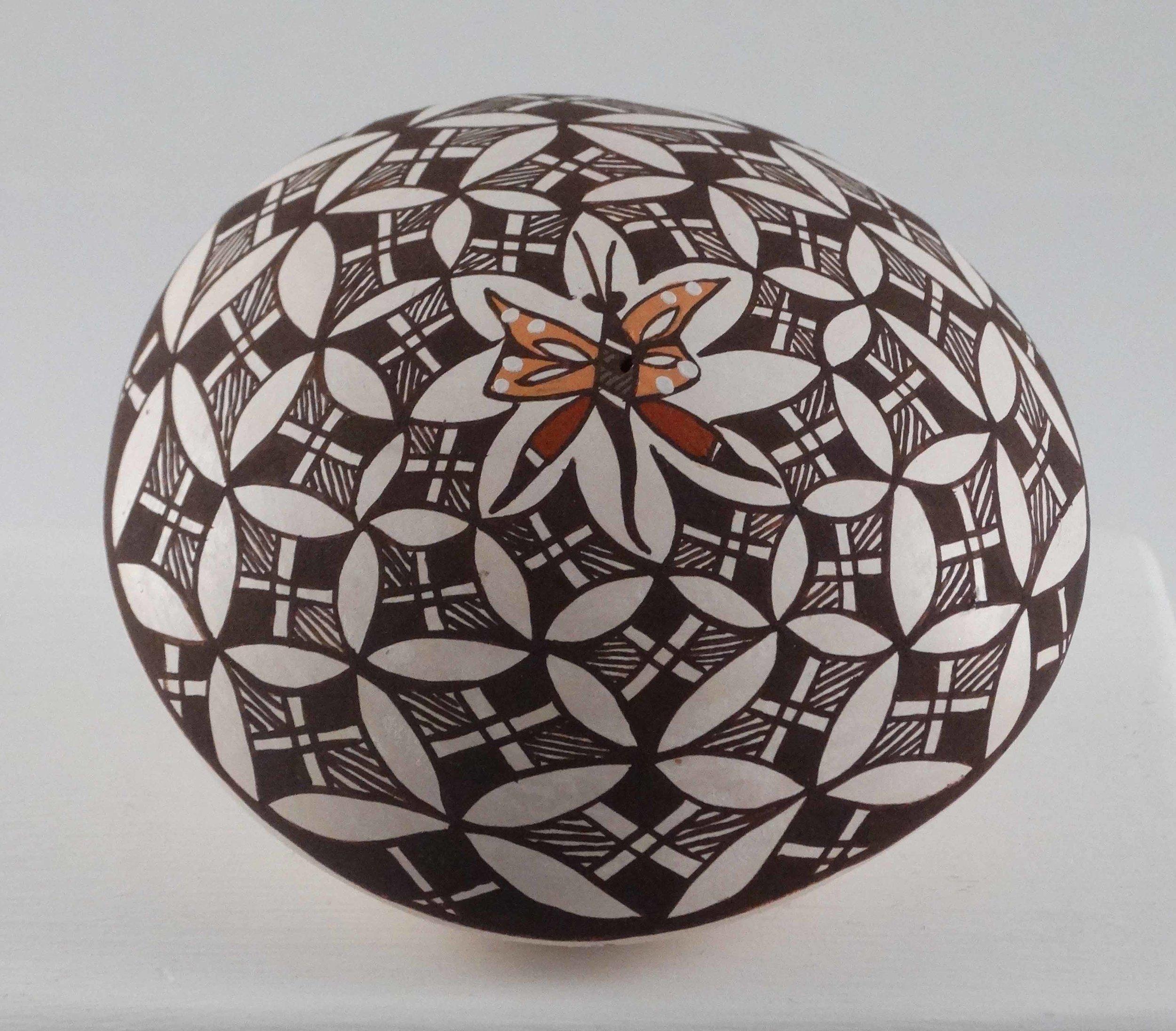 Polychrome Seed Jar by Diane Lewis-Garcia (click to enlarge)