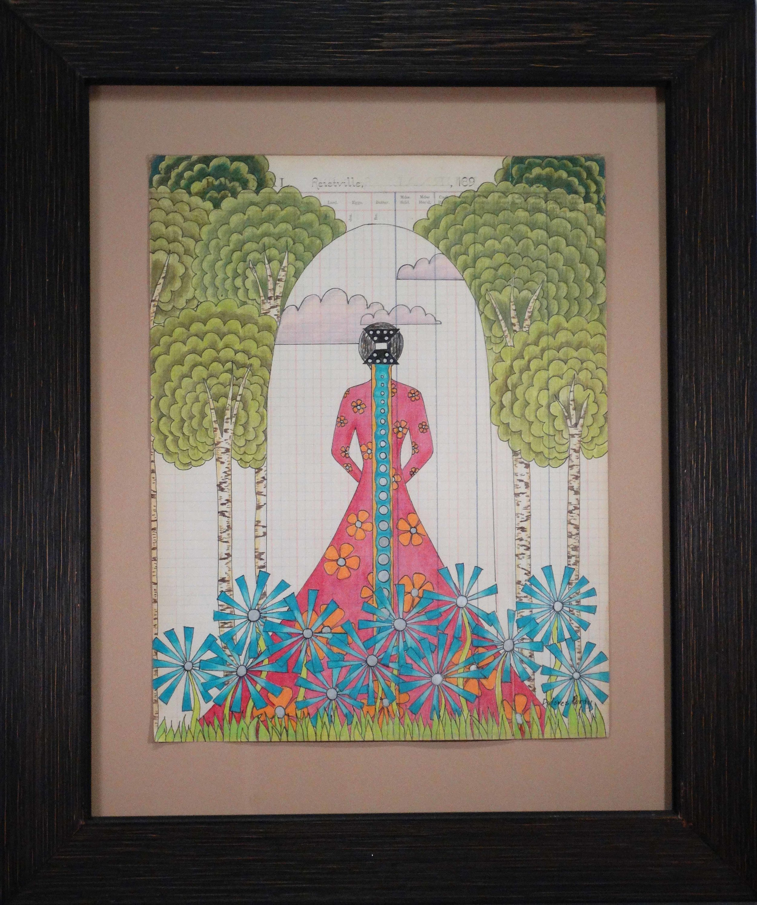 """Beautiful Caddo Lady"" by Dolores Purdy (click to enlarge)"