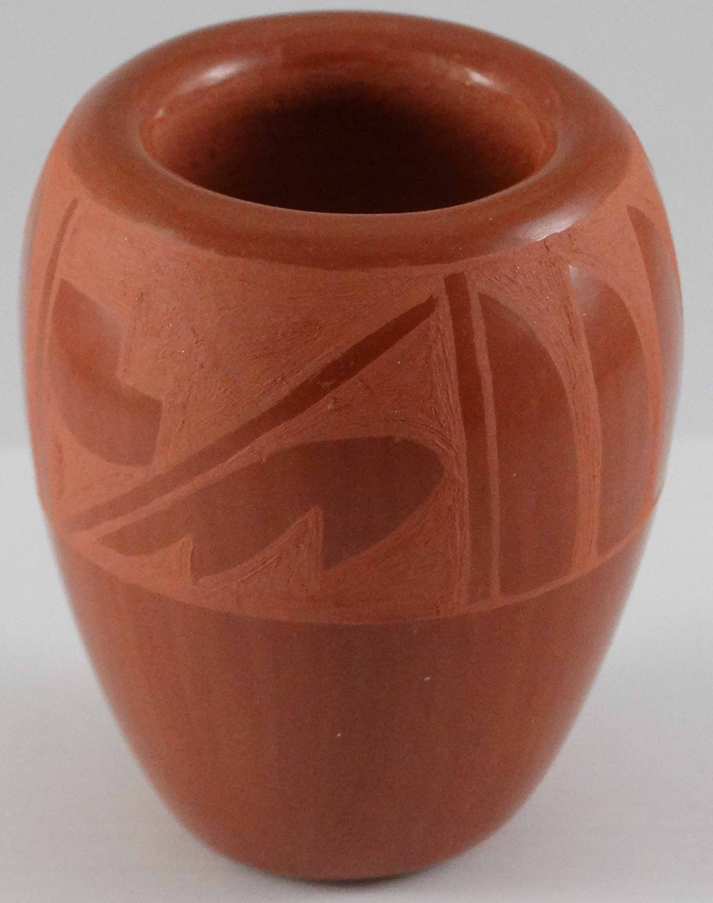 Redware Jar by Harriet Tafoya (click to enlarge)