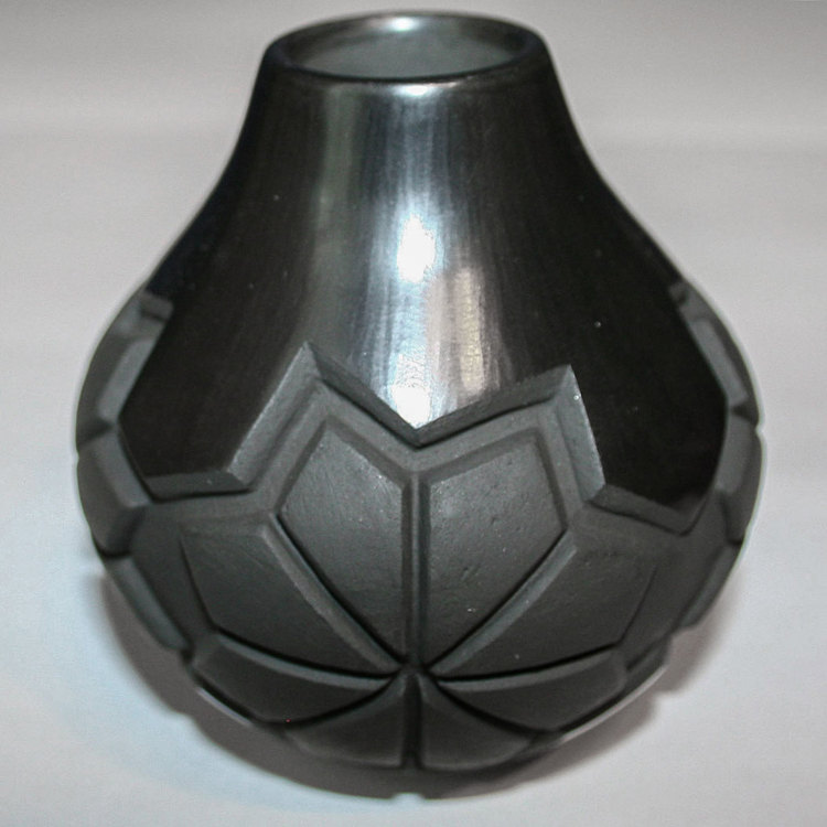Carved Blackware Jar by Madeline Naranjo (click to enlarge)