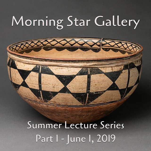 Our Summer Lecture series starts tomorrow at 10:30am - Space is limited so please call or email the gallery to reserve your spot! #morningstargallery #artgallery #antiquenativeamericanart #nativeamericanart #santafenm #canyonroad #gallerytalk