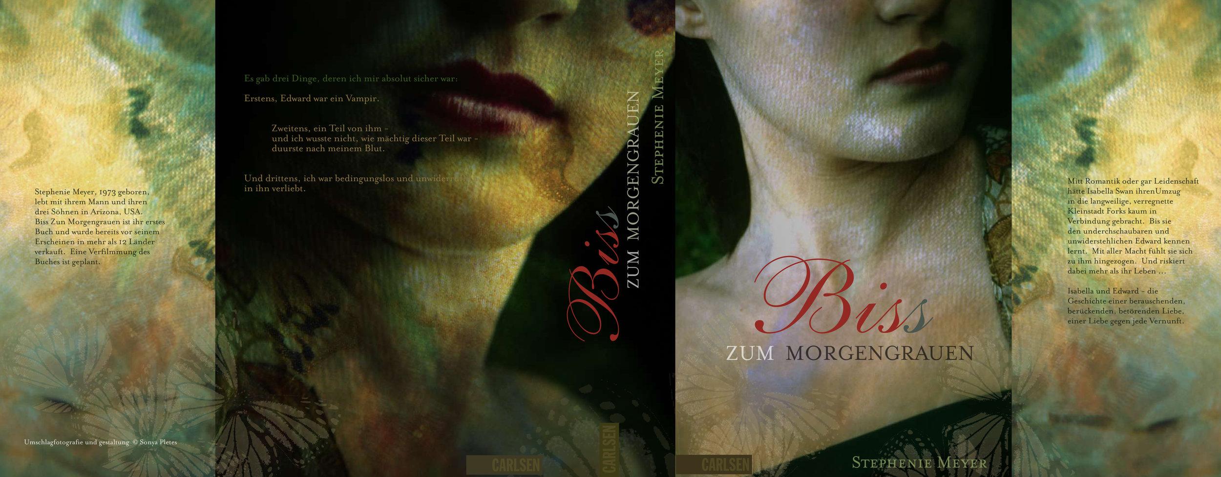 'Twilight'   by Stephenie Meyer. German Language Edition, Carlsen Verlag, Hamburg.  Design, Photography & Creative Direction © Sonya Pletes