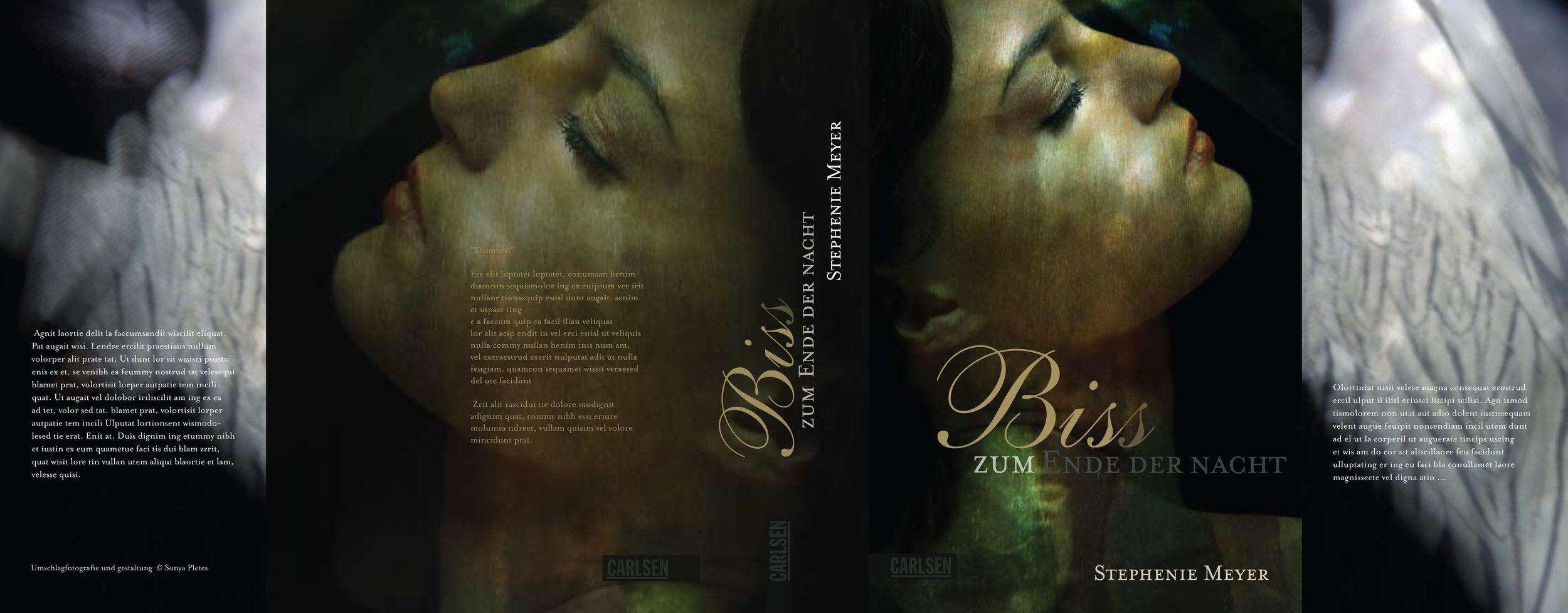 'Breaking Dawn'   by Stephenie Meyer. German Language Edition, Carlsen Verlag, Hamburg.  Design, Photography & Creative Direction © Sonya Pletes