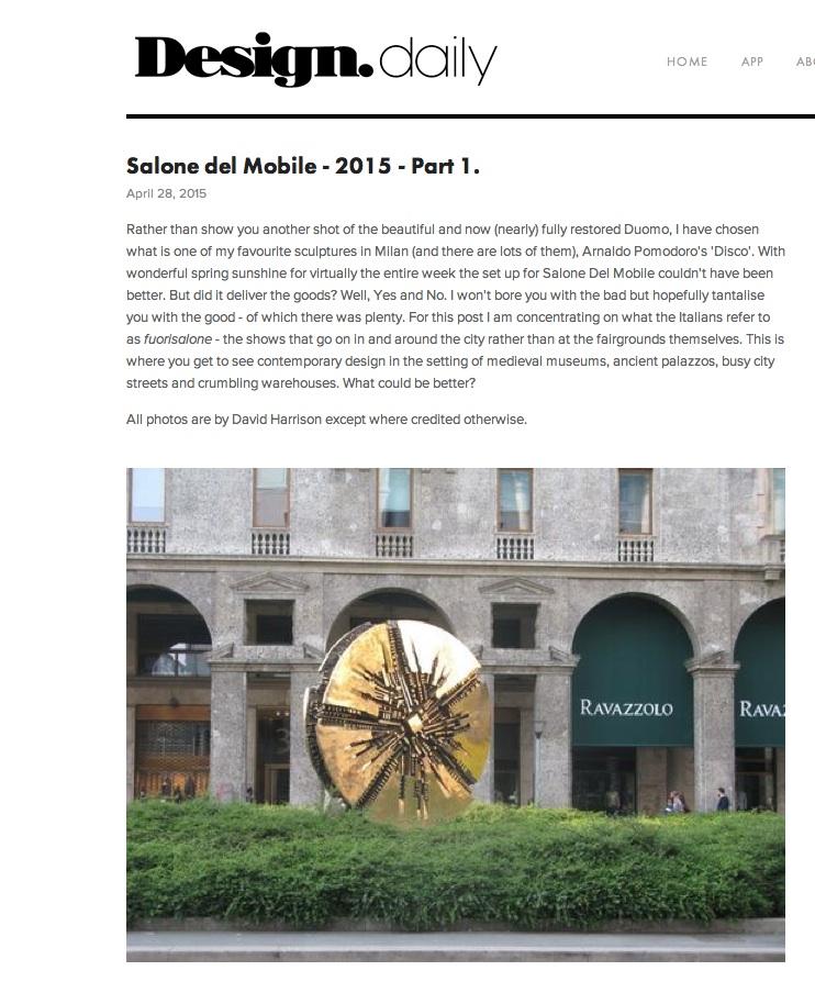 Design Daily - Milan Report 2015
